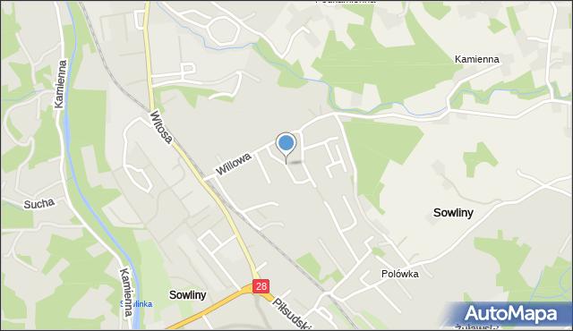 Limanowa, Metalowców, mapa Limanowa