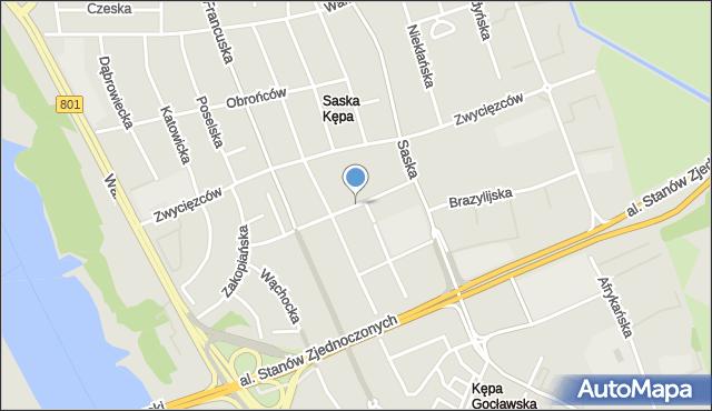 Warszawa, Meksykańska, mapa Warszawy