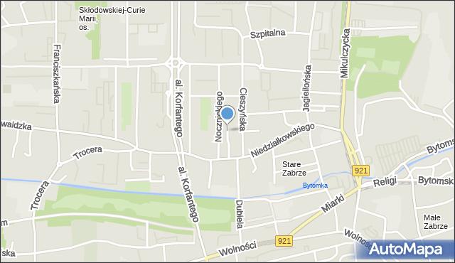 Zabrze, Męczenników Majdanka, mapa Zabrza