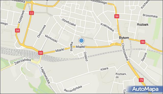 Bytom, Miarki Karola, mapa Bytomia