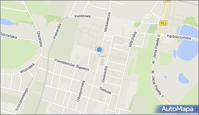 Bytom, Mickiewicza Adama, mapa Bytomia