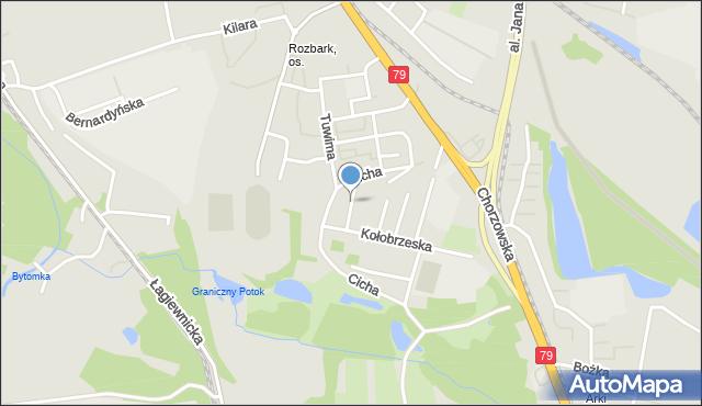 Bytom, Miodowa, mapa Bytomia