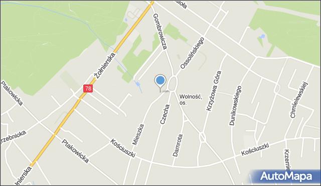 Bytom, Mieszka I, mapa Bytomia