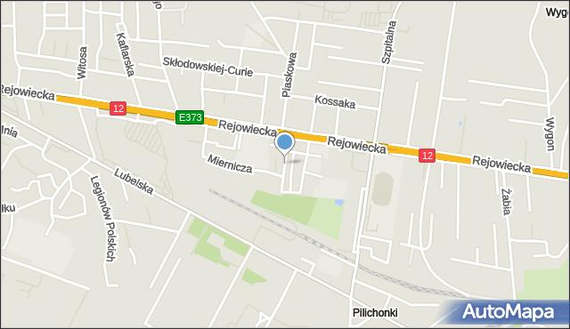 Chełm, Miła, mapa Chełma