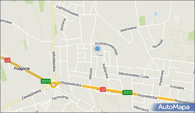 Chełm, Mimozy, mapa Chełma