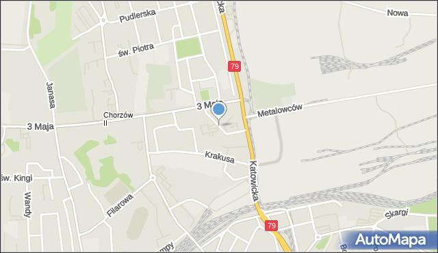 Chorzów, Miechowicka, mapa Chorzów