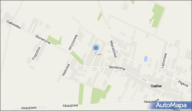 Gałów, Migdałowa, mapa Gałów