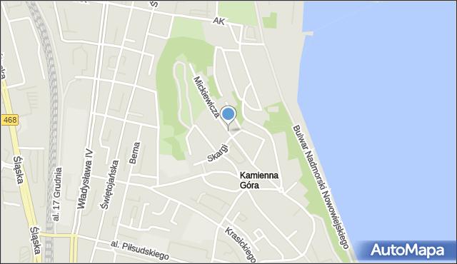 Gdynia, Mickiewicza Adama, mapa Gdyni
