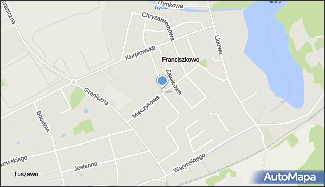 Grudziądz, Mieczykowa, mapa Grudziądza