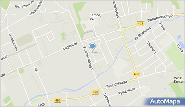 Grudziądz, Milczewskiego-Bruna Ryszarda, mapa Grudziądza
