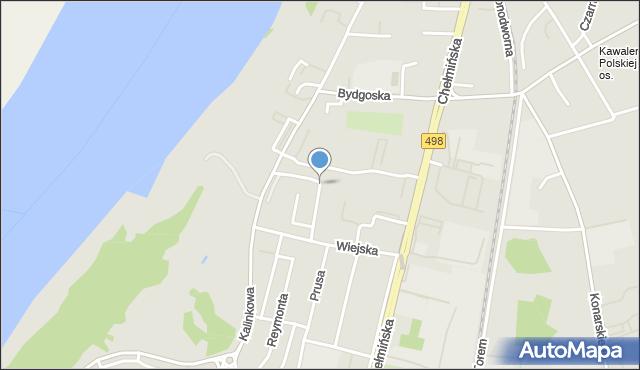 Grudziądz, Miłosza Czesława, mapa Grudziądza
