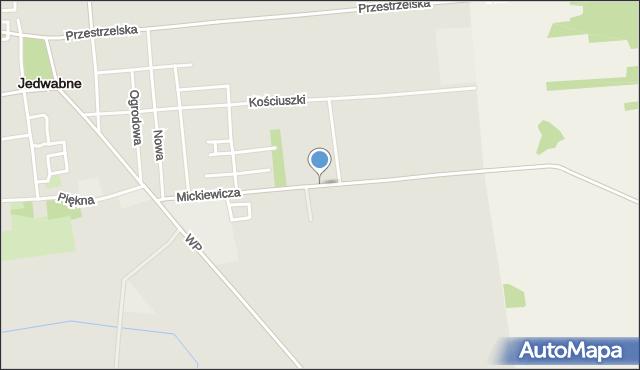 Jedwabne, Mickiewicza Adama, mapa Jedwabne