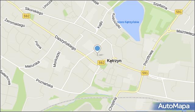 Kętrzyn, Mickiewicza Adama, mapa Kętrzyn