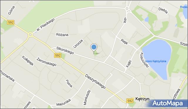 Kętrzyn, Miejska, mapa Kętrzyn