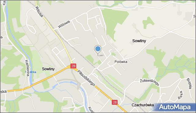 Limanowa, Miła, mapa Limanowa