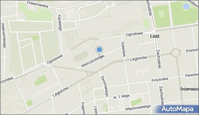 Łódź, Mielczarskiego Romualda, mapa Łodzi