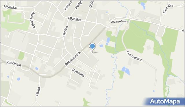 Luzino, Miła, mapa Luzino