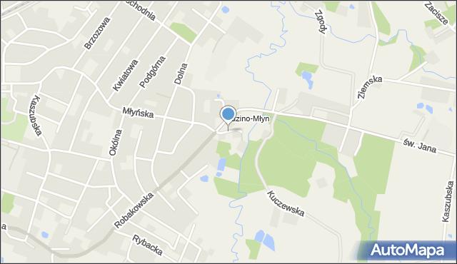 Luzino, Miotk Pawła, mapa Luzino