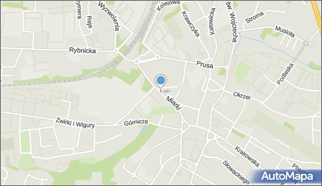 Mikołów, Miarki Karola, mapa Mikołów