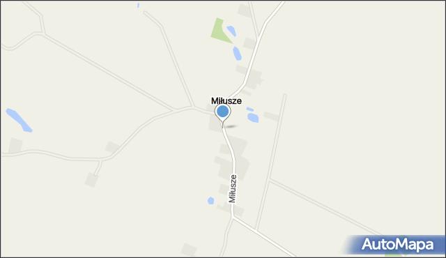 Miłusze, Miłusze, mapa Miłusze