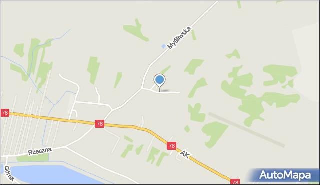 Poręba powiat zawierciański, Miodowa, mapa Poręba powiat zawierciański