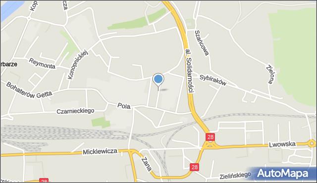 Przemyśl, Mierosławskiego Ludwika, gen., mapa Przemyśla