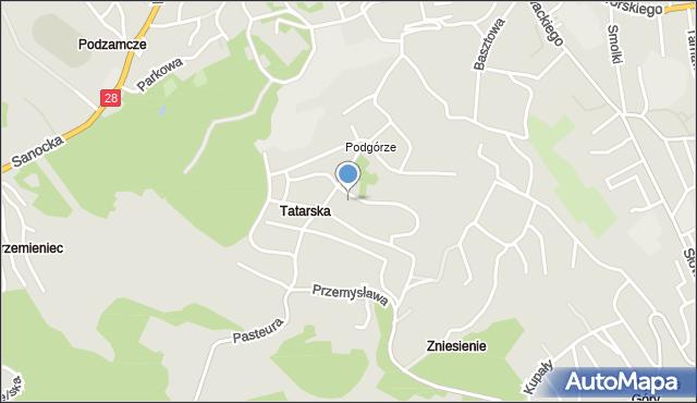 Przemyśl, Mieszka I, mapa Przemyśla