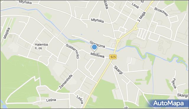 Ruda Śląska, Miodowa, mapa Rudy Śląskiej