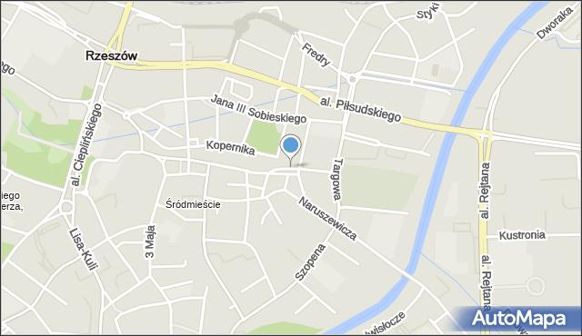 Rzeszów, Mickiewicza Adama, mapa Rzeszów
