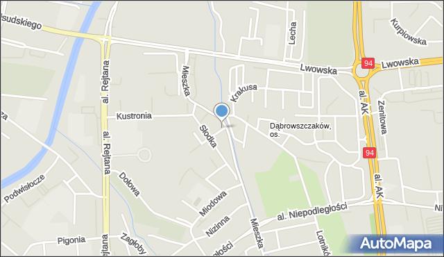 Rzeszów, Mieszka I, mapa Rzeszów