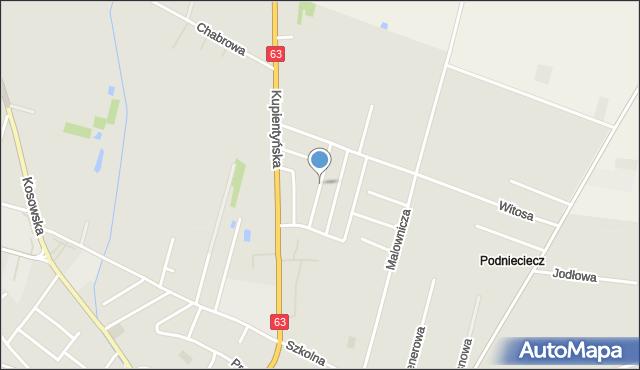Sokołów Podlaski, Mickiewicza Adama, mapa Sokołów Podlaski