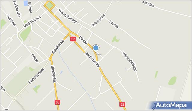 Sokołów Podlaski, Międzyrzecka, mapa Sokołów Podlaski