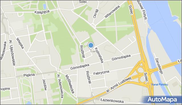 Warszawa, Miechowska, mapa Warszawy
