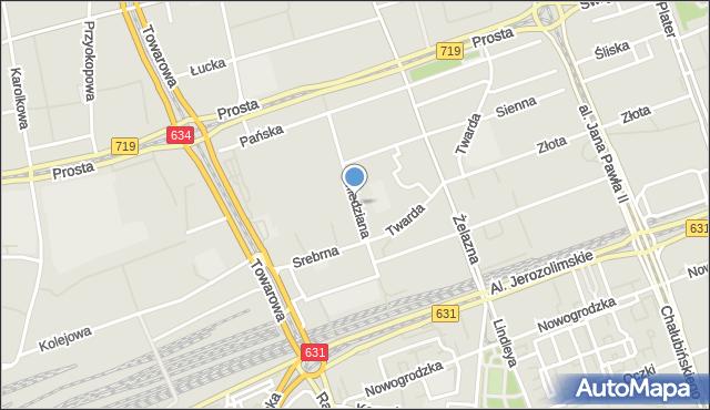 Warszawa, Miedziana, mapa Warszawy