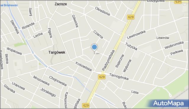 Warszawa, Miedzianogórska, mapa Warszawy