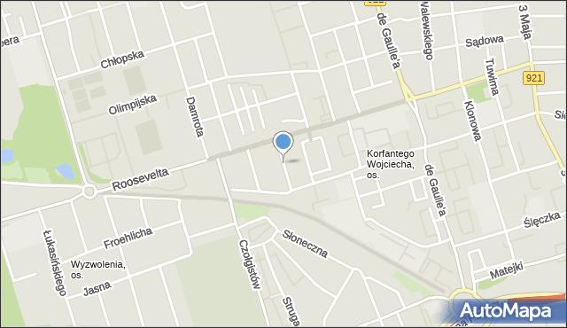 Zabrze, Michała Archanioła, mapa Zabrza