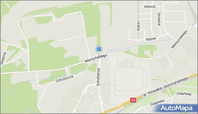 Zabrze, Mielżyńskiego Macieja, mapa Zabrza