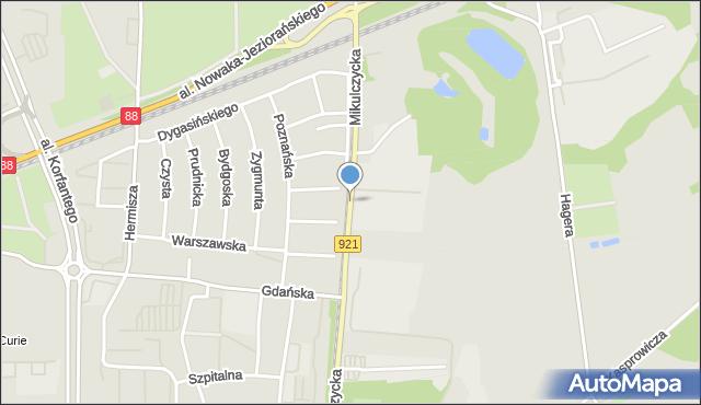 Zabrze, Mikulczycka, mapa Zabrza