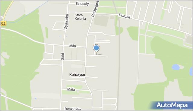 Zabrze, Mikusza Piotra, mapa Zabrza