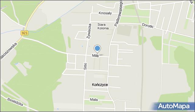 Zabrze, Miła, mapa Zabrza