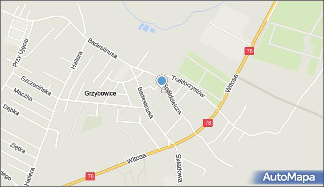 Zabrze, Miedziana, mapa Zabrza