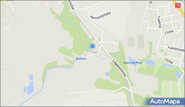Bytom, Młyńska, mapa Bytomia
