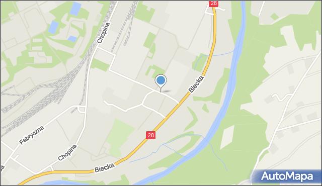Gorlice, Młyńska, mapa Gorlic