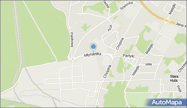 Jaworzno, Młynarska, mapa Jaworzno