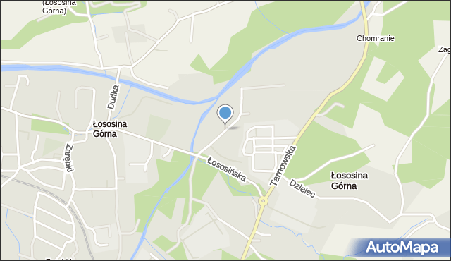 Limanowa, Młyńska, mapa Limanowa