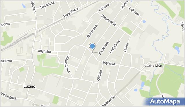 Luzino, Młyńska, mapa Luzino