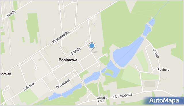 Poniatowa powiat opolski, Młodzieżowa, mapa Poniatowa powiat opolski