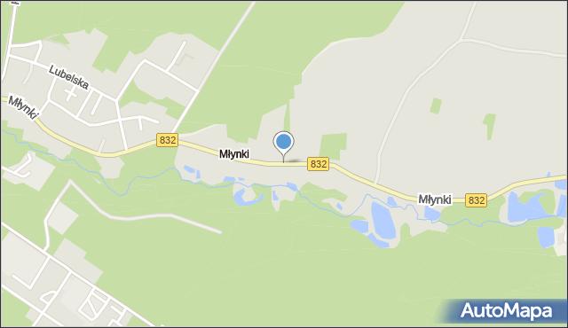Poniatowa powiat opolski, Młynki, mapa Poniatowa powiat opolski