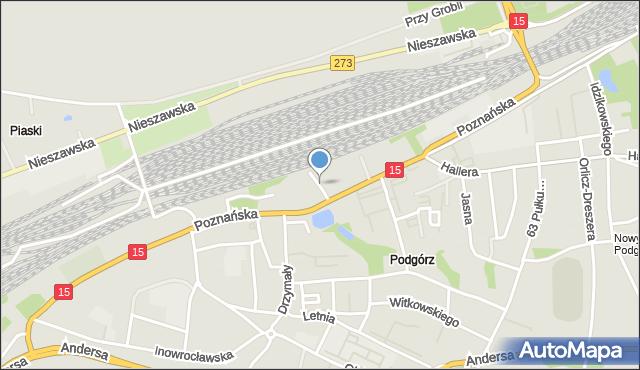 Toruń, Młyńska, mapa Torunia