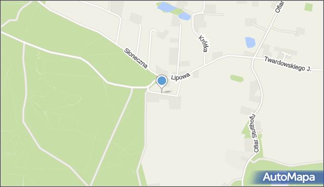 Barłomino, Modrzewiowa, mapa Barłomino
